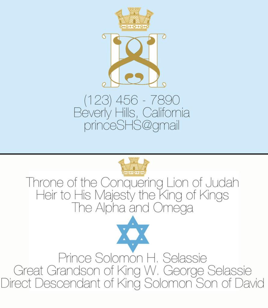 Solomon visit card 2